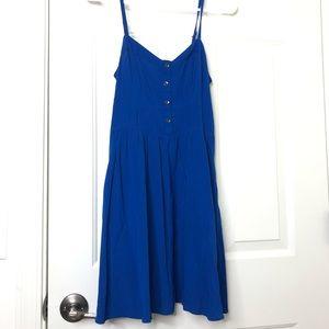Express Royal Blue Strap Flowy Dress